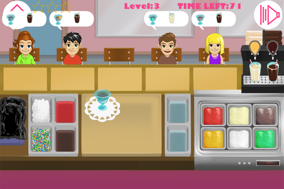 Ice cream restaurant- screenshot