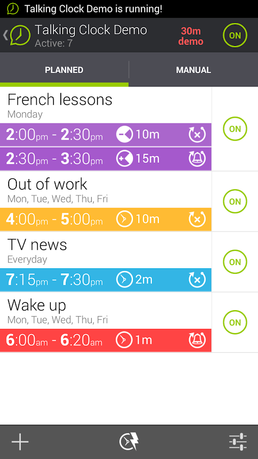 Talking Clock Demo - screenshot