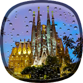 Rainy Barcelona Live Wallpaper