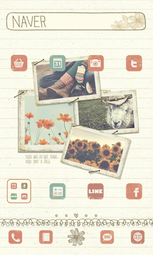 travel Dodol launcher theme