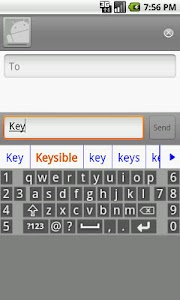 Keysible AlphaNumeric Keyboard screenshot 1