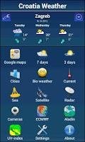 Screenshot of Croatia Weather
