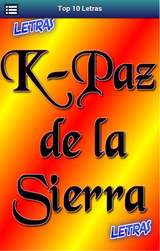 Letras K-Paz de la Sierra