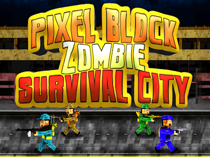 【免費冒險App】Block Zombie Pixel City PRO-APP點子