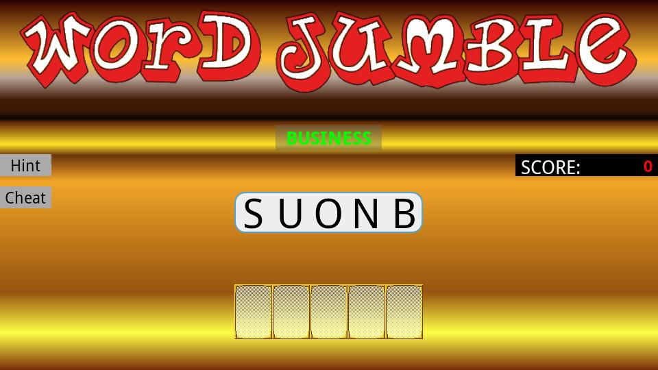 Jumbled Words Word Jumble Screenshot