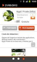 Screenshot of 3 applis