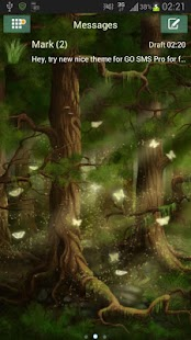 Forest Theme GO SMS Pro- screenshot thumbnail
