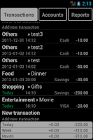 Screenshot of MMoney