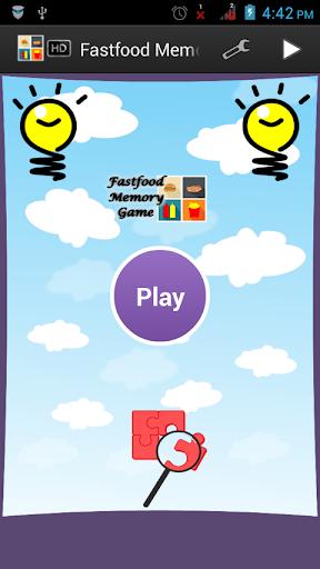 Fastfood Memory Game