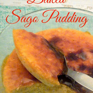 Baked Sago Pudding