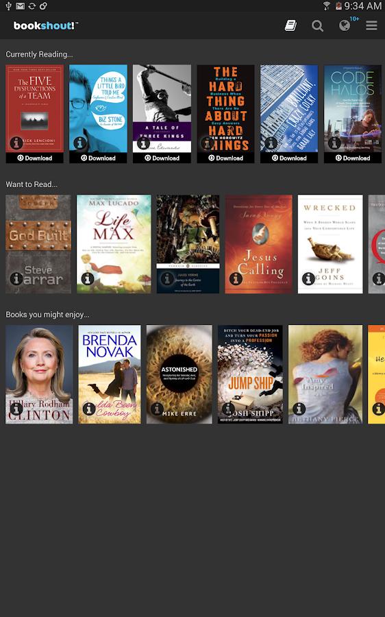 BookShout! - screenshot
