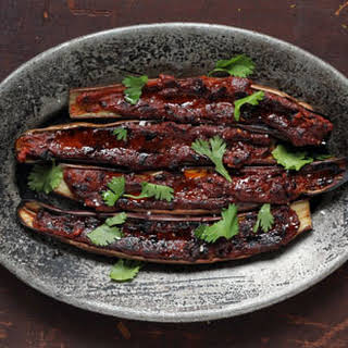 Barbecued Eggplant with Miso Glaze.