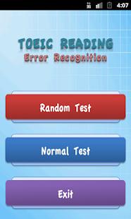 TOEIC Error Recognition