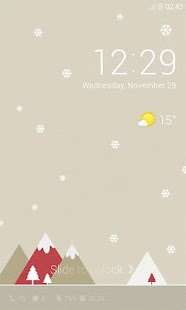 Pastel Snow Dodol Locker Theme - screenshot thumbnail