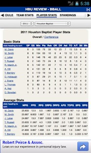 Houston Baptist Basketball - screenshot thumbnail