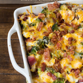 Cheesy Ham and Potato Bacon Casserole