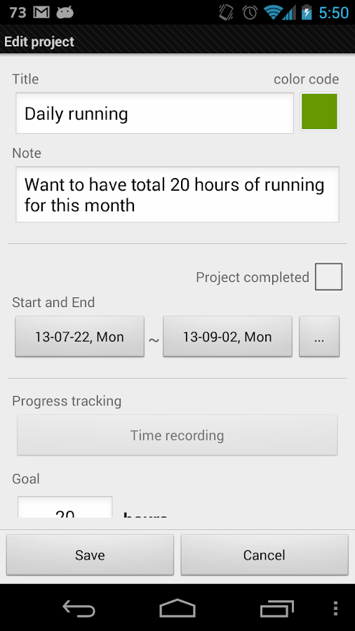 Goal tracker: SmartGoals Pro - screenshot
