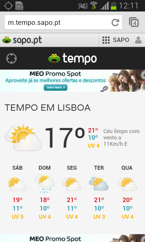SAPO Tempo - screenshot