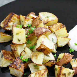 Honey And Herb Roasted Potatoes.