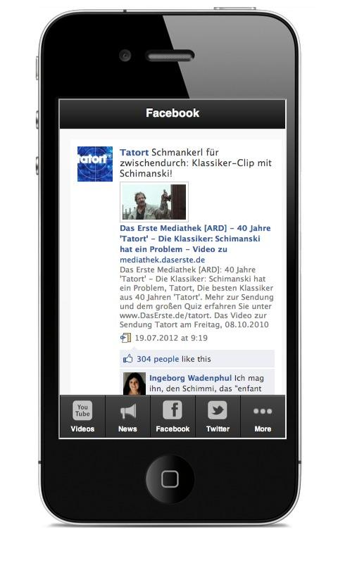 Tatort Fan App - screenshot