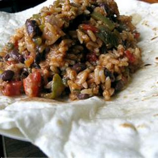 Barbeque Seitan and Black Bean Burritos