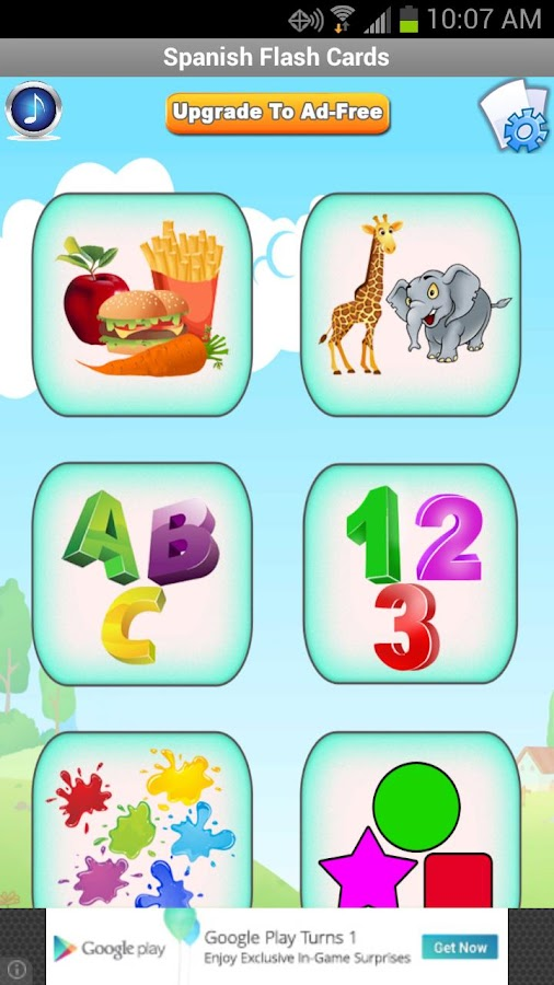Spanish Baby Flashcards- screenshot