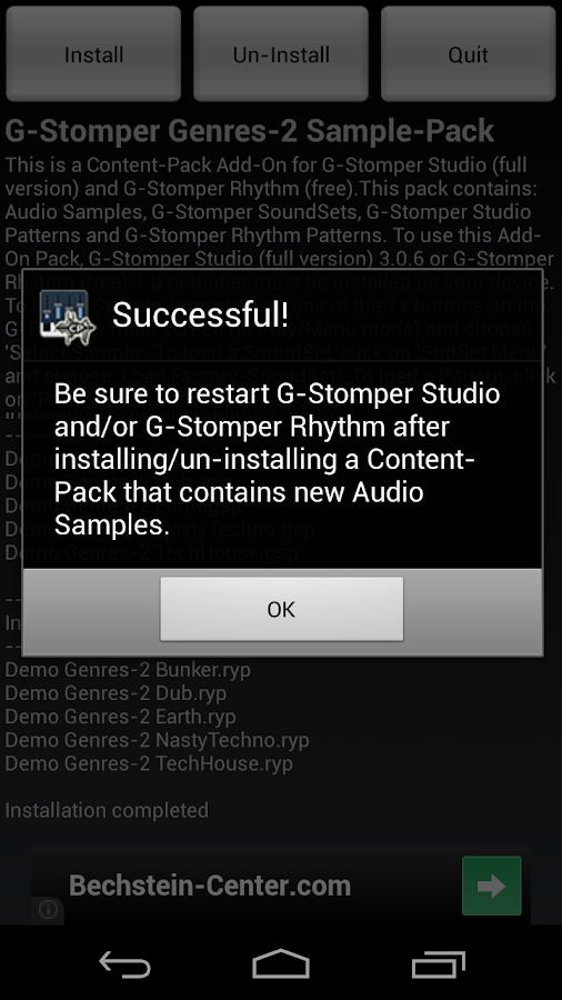 G-Stomper Genres-2 Sample-Pack- screenshot