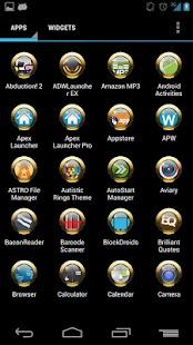 Yellow Rings for ADW APEX NOVA - screenshot thumbnail
