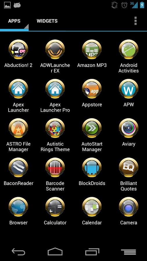 Yellow Rings for ADW APEX NOVA- screenshot