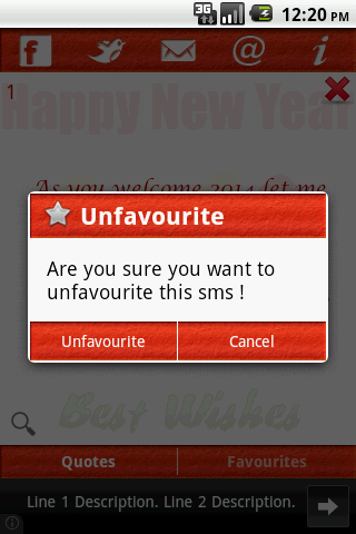 New Year Wishes & SMS(2014) - screenshot