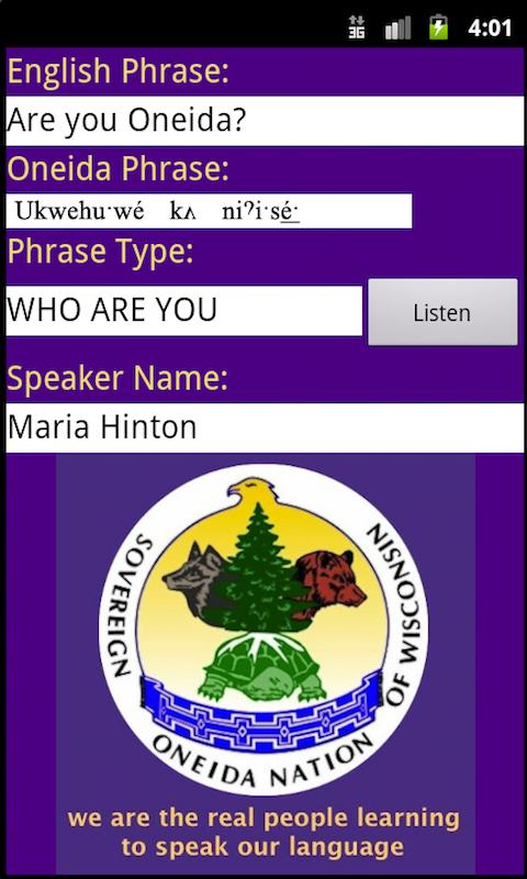 Oneida Language: Wisconsin screenshot #5