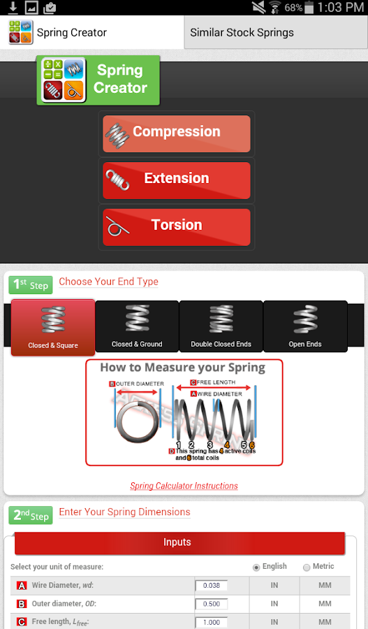Spring Creator Calculator: captura de pantalla