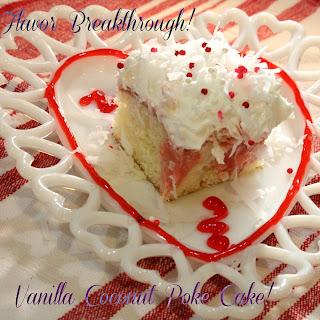 Vanilla Coconut Poke Cake!