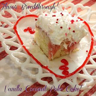Vanilla Coconut Poke Cake!.