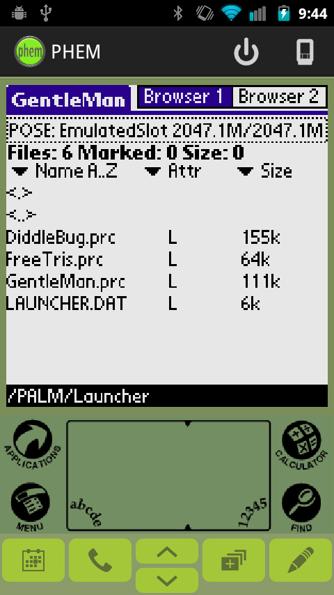 PHEM: Palm Hardware Emulator- screenshot