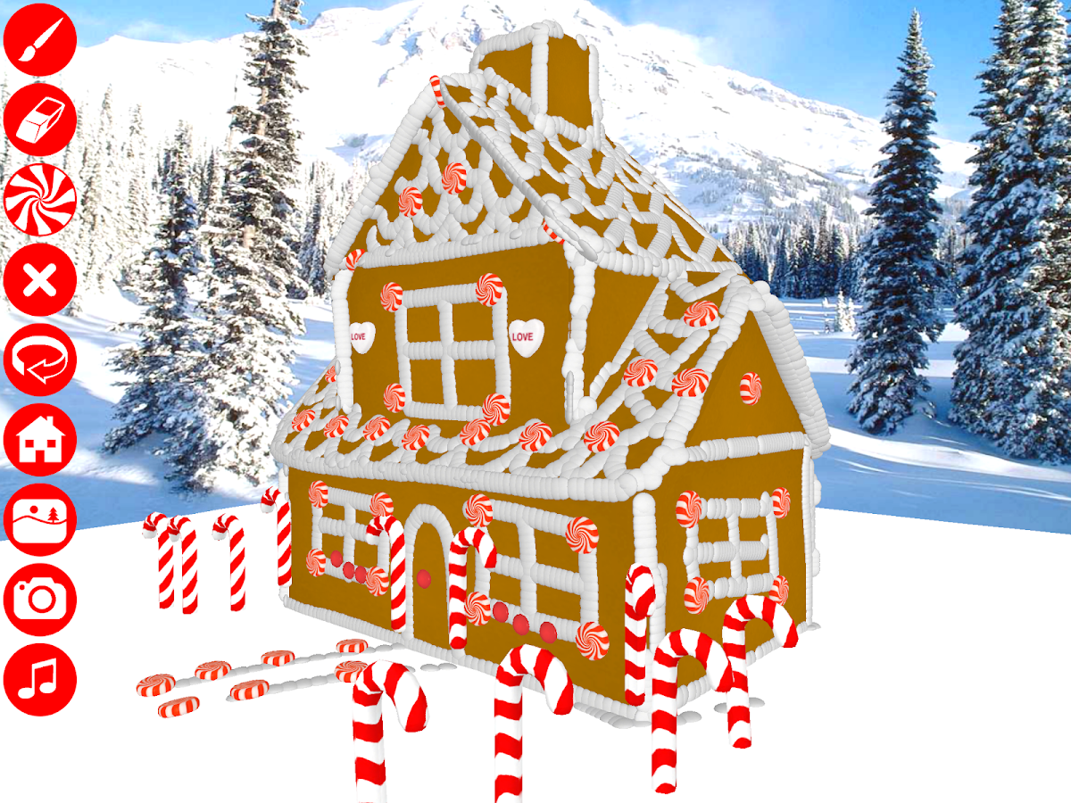 Gingerbread House Maker 3d Android Apps On Google Play