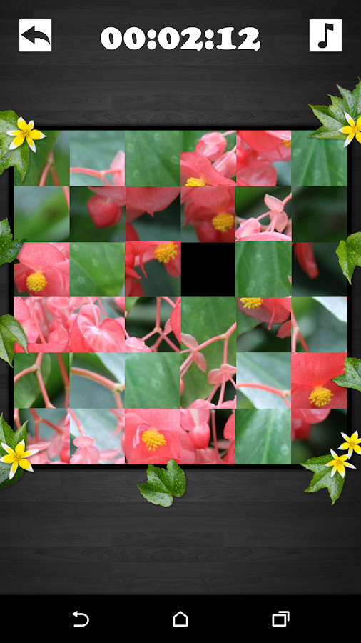 Exciting Puzzle - Flowers- screenshot