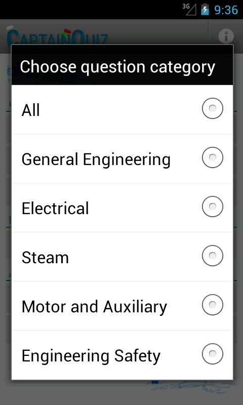 CaptainQuiz Engineering- screenshot
