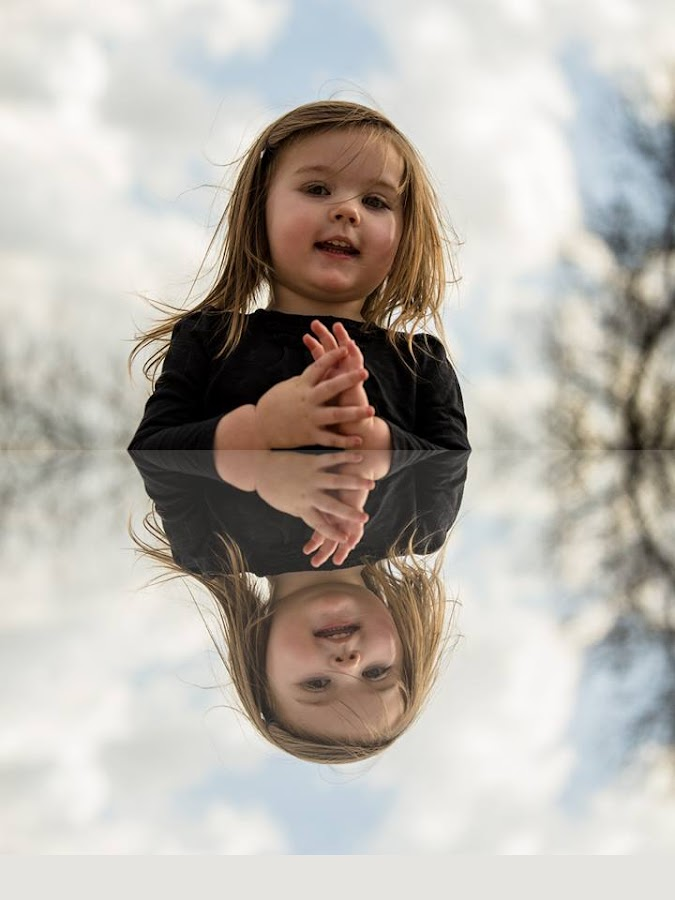 Reflections by Denise Langevin - Babies & Children Children Candids ( playing, girl, country girl, joy, reflections )