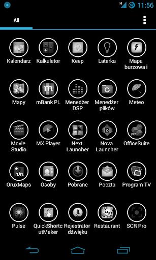 Holo B W Apex Nova Adw Icons