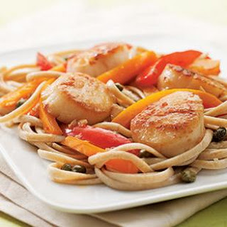 Scallop Scampi with Peppers.