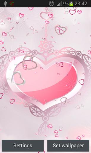 粉紅色的心活壁紙