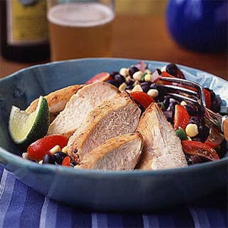Chicken with Black Bean Salsa