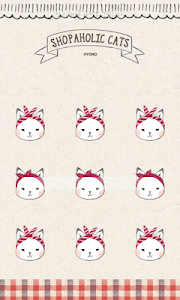 Shopper Holic cats(red check) screenshot 0
