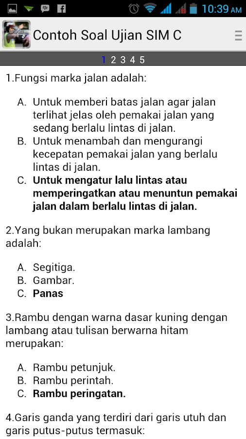 Contoh Soal Ujian Sim Android Apps On Google Play