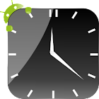 Crystal Black Clock Widget icon