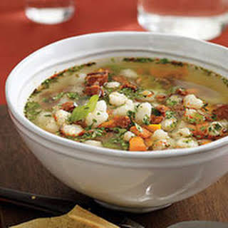 Chorizo-and-Hominy Soup.