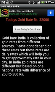 Live Gold Price India - screenshot thumbnail