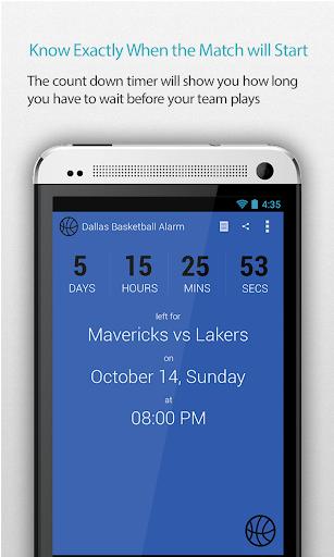 Dallas Basketball Alarm Pro