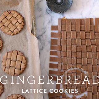 Gingerbread Lattice Cookies